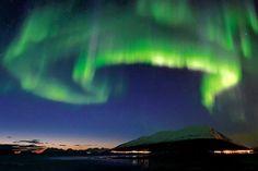 Where to Catch the World's Best Light Show by Kathleen Squires, wsj. Photo via Hurtigruten. #Northern_Lights #Kathleen_Squires #wsj