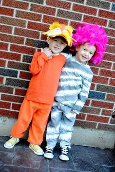 Double the Giggles...: {The Lorax} Easy Homemade Halloween Costumes