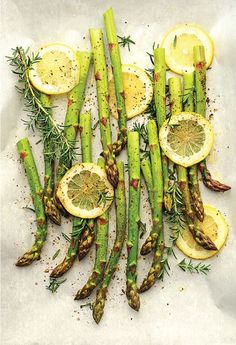 Roasted Asparagus with Rosemary & Lemon