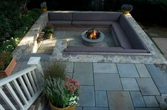 Fire pit set in the ground