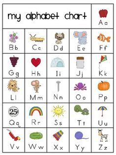 My Alphabet Chart Free