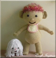Pot Belly Babies Troll Crochet Pattern set