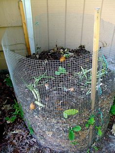 Compost Bin- pinning next to my diy kitchen composter to remind me what I'm supposed to do with the compost from my kitchen!!