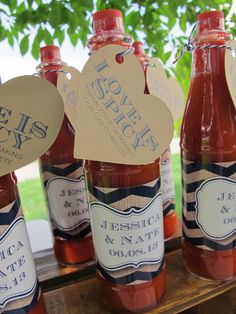 Love is Spicy Wedding Favors - Hot Sauce Bottles