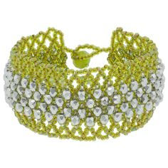 Example of embellished netting - free pdf download but verbal instructions only.  #Seed #Bead #Tutorials