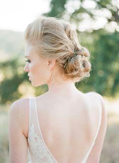elegant bridal #updo