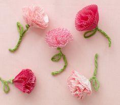 valentine crafts, cupcake liners, valentine day crafts, cupcake holders, diy crafts, paper flowers, tissue flowers, cupcake liner crafts, kid
