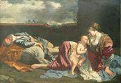Rest on the Flight into Egypt.GENTILESCHI, Orazio.1628.Musée du Louvre.Paris.