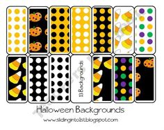 halloween themed backgrounds-perfect for creating teaching items of  your own! $2.00