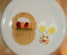 Waffle baskets and egg bunny rabbits - cute for #Easter http://media-cdn7.pinterest.com/upload/261701428316214408_D0F9aPaC_f.jpg mindy1024 holiday ideas and food