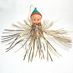 5 Japan Pixie Elf Tinsel Spray Christmas Ornaments