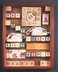 Adorable shadow box idea!!