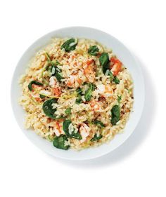 Risotto With Shrimp and Watercress recipe
