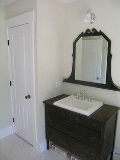 Black Dresser Turned Vanity