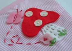 Toadstool Bunting Applique