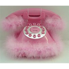 furry pink phone