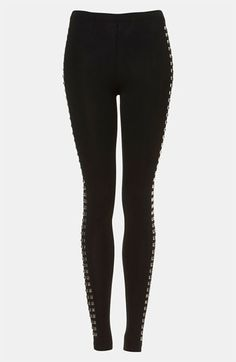 Topshop 'Tuxedo' Studded Leggings available at #Nordstrom
