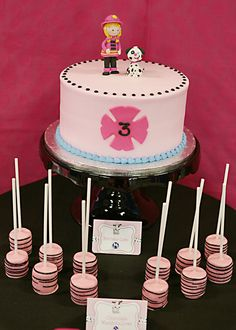 """Photo 2 of 31: Girly firefighter / Birthday """"3 Alarms for Ava"""" 