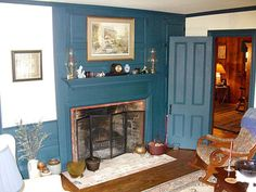 great colonial fireplace