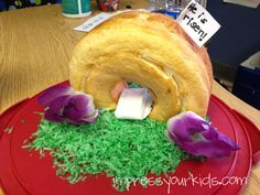 """He is Risen"" cake with empty tomb"