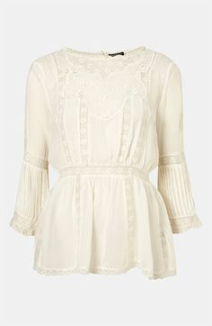 Topshop 'Valencia' Vintage Lace Tunic #Nordstrom #britishstyle