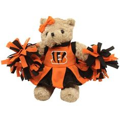 Cincinnati Bengals Talking Cheerleader Plush Bear