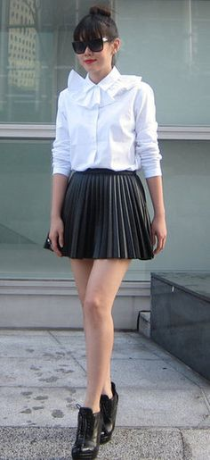 Pleated Mini Street Style