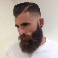 Beard and hair.