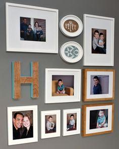 idea, frame, decor photo, photo gallery walls, famili