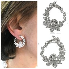 Esther once tried on a pair of flower motif earrings at a trade show and the photo lit up our Pinterest profile and still does! In honor of spring, we now have those fabulous earrings in stock, crafted in 18k white gold. The flowers will nod their heads when you walk by wearing these.