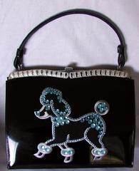 PooDLe Embellished vintage handbag