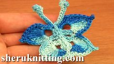 CROCHET BUTTERFLIES Tutorial 15.  http://sheruknitting.com/videos-about-knitting/crochet-elements-and-projects/item/651-crochet-butterflies.html Follow free detailed video instructions to learn how to crochet many different butterflies. In this tutorial you will see how to crochet a small butterfly that can be used on many different items as a little appliqué.