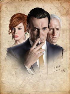 """Ilustraciones para el articulo """"Mad Men. Historias de las agencias publicidad""""."""