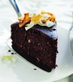 Coconut Chai Chocolate Cake from CLean Eating Mag
