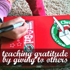 Teaching Gratitude by Giving