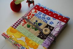 super cute journal made from fabric scraps. sm