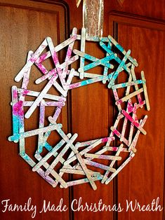 Post image for Homemade Christmas Decorations: Popstick Wreath