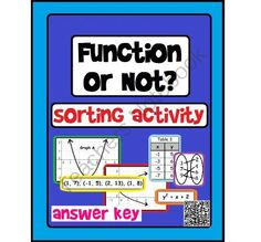 "Function or Not? Introduction to Functions Sorting Activity (optional QR codes) from Scaffolded Math and Science on TeachersNotebook.com -  (6 pages)  - Students work together or independently on this introductory activity to sort relations into the correct category of ""function"" or ""not a function""."