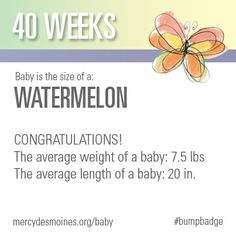 40 Weeks #bumpbadge | Mercy Medical Center - Des Moines