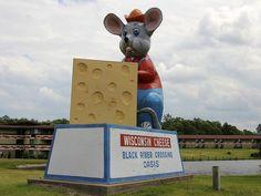 Black River Falls, WI: Cheesy Mouse, via Flickr.