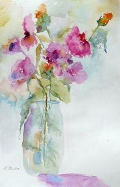 Soft & vibrant colors decorate this gorgeous water color piece... Artist?