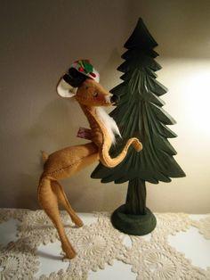 Vintage Annalee Doll Xmas Deer