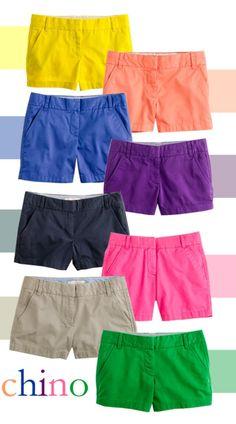 J Crew shorts..oh how i love them! need them all.