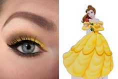 Belle ~Disney Makeup series...not a fan of the clumped together spider lashes though