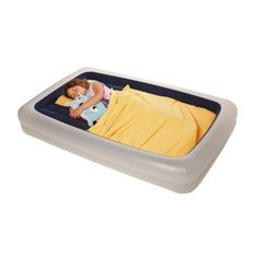 Shrunks Go Anywhere Toddler Bed with Manual Foot Pump (perfect for camping trips with little squirmies!)