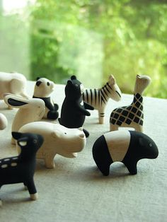 wooden animals by T-Lab at Hibino.co.il