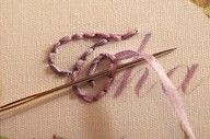 how to embroider words--good to know, for clothes, pillows or even on paper!