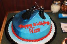 Star Wars cake for the Disney Bash bday party #disneyside