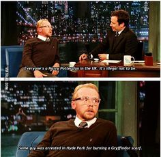 It's illegal not to be a Harry Potter fan...Simon Pegg knows