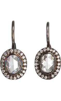 Zoe Rose Cut Diamond Drop Earrings